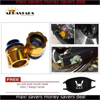 Motorcycle Axle Nut Cover Axel Nut Universal Cap Gold for Yamaha R3