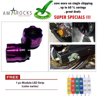 Motorcycle Bike Scooter Violet Axle Nut Cover Axel Nut Universal Yamaha Mio Sporty