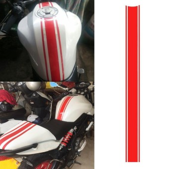 Motorcycle DIY Tank Fairing Cowl Vinyl Stripe Pinstripe Decal Sticker For Cafe Racer (Red) - intl