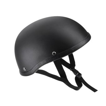 Motorcycle Half Open Face Helmet Matt Black Protection for Scooter Bike - intl