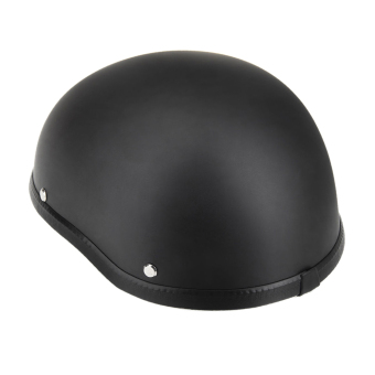 Motorcycle Half Open Face Helmet Matt Black Protection Shell Helmet for Scooter Bike.