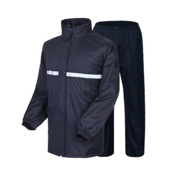 Motorcycle High Quality Durable RainCoat & Jacket Set WithPants Black XL