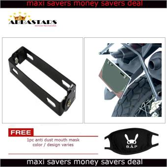 Motorcycle License Plate Number Holder Universal Adjustable BracketBlack Frame for for Yamaha Mio Aerox 155
