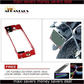 Motorcycle License Plate Number Holder Universal Adjustable BracketBlue Frame for Suzuki Skydrive 125