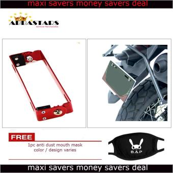 Motorcycle License Plate Number Holder Universal Adjustable BracketRed Frame for for Yamaha Mio Sporty