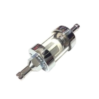 Motorcycle Metal Gas Inline Fuel Filter With Glass ObservationShell - intl