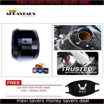 Motorcycle Muffler Exhaust Tip Cover Black for Suzuki Raider R150Reloaded