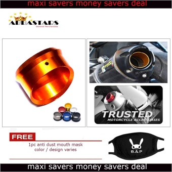 Motorcycle Muffler Exhaust Tip Cover Orange Gold for for Yamaha XTZ125