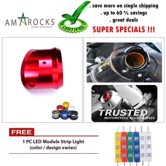 Motorcycle Muffler Exhaust Tip Cover Red for Suzuki Gixxer