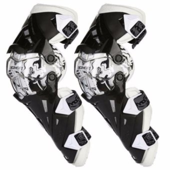 Motorcycle Protective kneepad Authentic Motorcycle Knee Protector Motocross Racing Guard Knee Pads Protective Gear Scoyco K12 White - intl Price Philippines