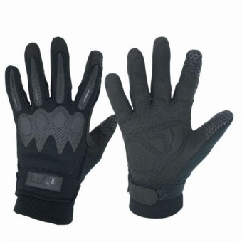 Motorcycle Riding Bikes Tactical Full Finger Slip WindproofBreathable Wear Warm Gloves(Black) - intl