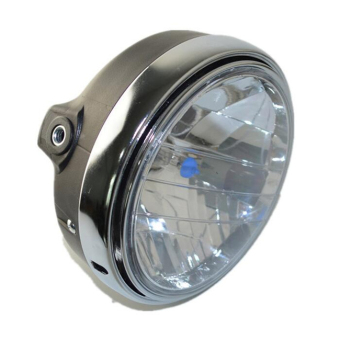 Motorcycle Round Chrome Halogen Headlight Lamp For Honda CB400CB500 CB1300 VTR250 CB 250 VTEC400 MOTO Refit Headlight Lamp - intl