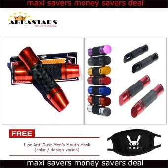 Motorcycle Scooter Bike Orange Lipstick Handle Grip Aluminum HandleBar Universal Compatible for Yamaha Mio Sporty