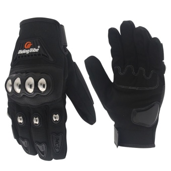 Motorcycle touchable gloves Anti-skid breathable racing gloves(Black/XL) - intl
