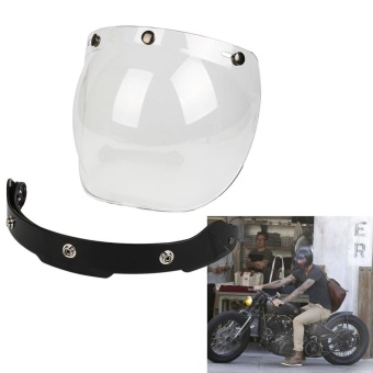 Motorcycle Windshield For Helmet Harley Style Helmets Jet Visor UV 400 - intl Price Philippines