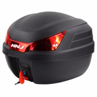 Motorcycle/Scooter Top Box Tail Trunk Luggage (Black/Red)