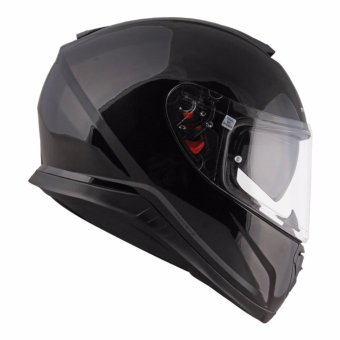 MT Full Face Helmet with Dual Visor THUNDR PD 300 (Black)