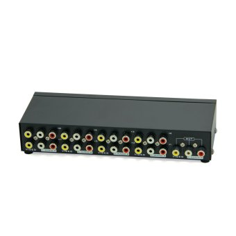 MT-VIKI 8-Way AV Switch RCA Switcher 8 In 1 Out Composite Video L/R Audio Selector Box for DVD STB Game Consoles
