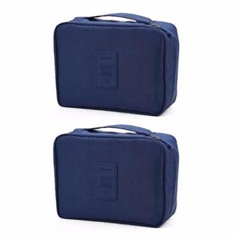 Multi-Pouch Travel Toiletry Cosmetic Bag Set of 2