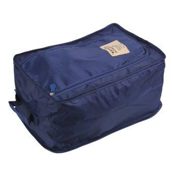 Multifunction Nylon Folding Travel Shoe Bag ( Navy Blue)