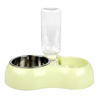 Multifunction Pet Bowl Dog Feeder Food Bowl With Water Bottle Dog Pet Feeder High Quality Dog Bowl Puppy Dish(green) - intl Price Philippines