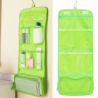 Multifunction Travel Portable Wash Bag Cosmetic Makeup PouchToiletry Organizer (Green)