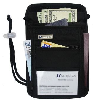 Multifunction Travel Security Neck Pouch Travel Neck WalletAnti-theft Security Travel Wallet Boarding Pass Holder Neck Bag -Intl Price Philippines