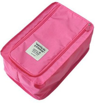 Multifunction Travel Shoes Mesh Pouch (Pink)