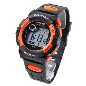Multifunction Waterproof Kids Boys Girls Sports Electronic Digital Watch Watches Orange