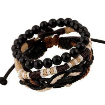 Multilayer Bracelets For Women Men Jewelry Beads Bangles Adjustable - intl Price Philippines