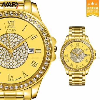 NARY 1006 Couple's Fashion Steel Digital scale Strap Quartz Watch (Gold) - 2