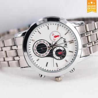 Nary 6041 Business Men's Stainless Steel Strap Quartz Wrist Watch - 2