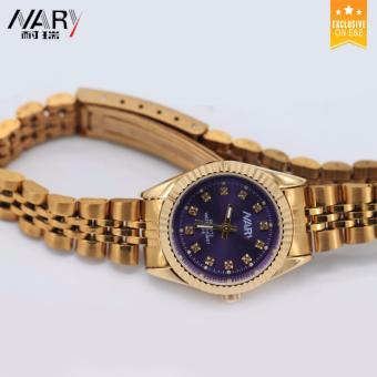 NARY 6068 Women's Fashion Gold Steel-belt Quartz Watch