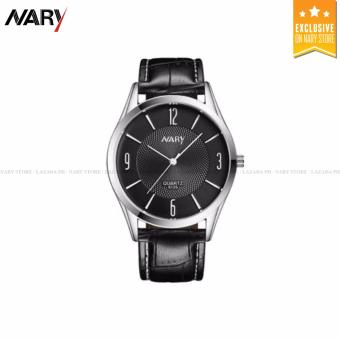 NARY 6125-98 Womens'classical Leather-belt Quartz Wrist Watch