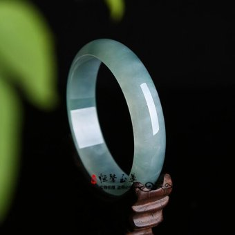 Natural Genuine ice a jade jade bracelet color green flowersfloating female jade bracelets special certificate - intl