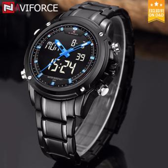 Naviforce 9050 Black Stainless Steel Men's Fashion Casual Japan Movementt Watch