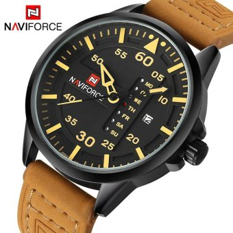 NAVIFORCE Luxury Brand Men Army Military Watches Men's Quartz DateClock Man Leather Strap Sports Wrist Watch Relogio Masculino - intl