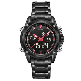Naviforce Stainless Steel Strap Men's Watch NF9050 (Black/Black/Red)