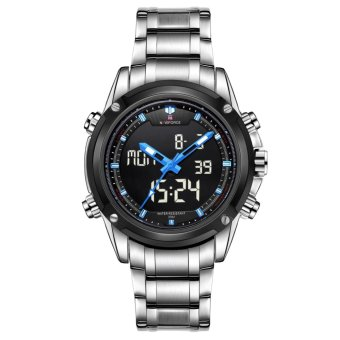 Naviforce Stainless Steel Strap Men's Watch NF9050 (Silver/Black/Blue)