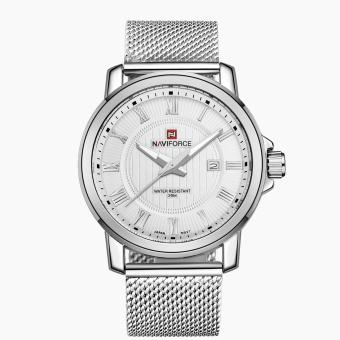 Naviforce Stainless Steel Strap Men's Watch NF9052 (Silver/White)