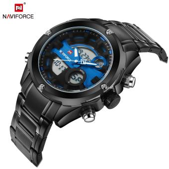 Naviforce Stainless Steel Strap Men's Watch NF9088 (Black/Black/Blue)