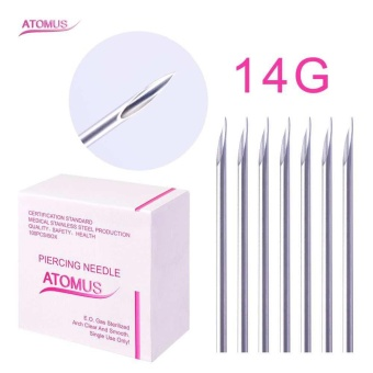 New 100PC Disposable Tattoo Sterile Body Piercing Needles 14G 16G18G For Ear Nose Navel Nipple for tattoo supplies - intl