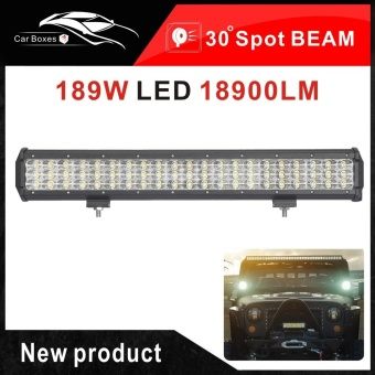 NEW 20Inch 189W LED Light Bar Spot beam for Car Truck Boat Hunt 4x4SUV F150 ATV Off Road Automobiles 12V LED Work Driving light - intl