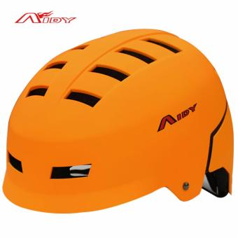New AIDY Adult Skate Extreme Sports Helmet Safety Helmet BMXSkateboard Roller Skating Multipurpose Universal Cycling Helme(Orange)