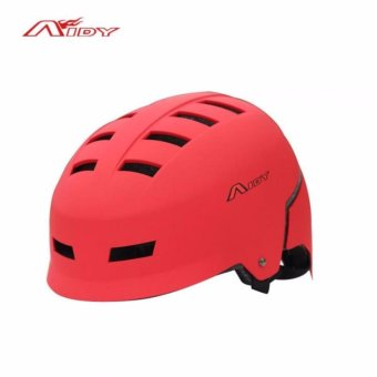 New AIDY Adult Skate Extreme Sports Helmet Safety Helmet BMXSkateboard Roller Skating Multipurpose Universal Cycling Helme(Red)