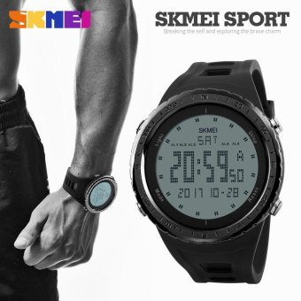 New Big Dial SKMEI Brand Men LED Digital Military Watch WaterproofSwim Dress Sports Watches Fashion Outdoor Student Wristwatch - intl