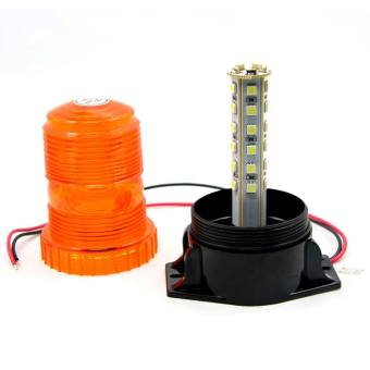 New DC12V-110V Led Mini Strobe Beacon Amber Single Flash WarningLight Emergency Car Truck External Light - intl