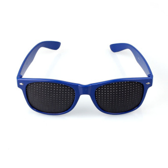 New Eyesight Improvement Vision Care Exercise Eyewear PinholeGlasses unisex Blue (Intl)