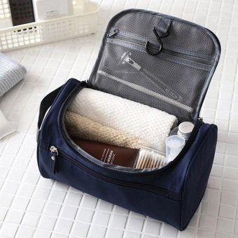 New Large Waterproof Makeup Bag Women and Men Wash Toiletry Bag Nylon Travel Cosmetic Bag NO.1 (Black) - intl - 5