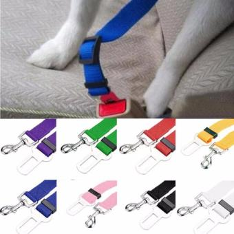 New Pet Cat Dog safety vehicle Seat Belt Harness Lead Clip (Grey) Price Philippines